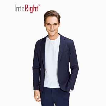 INTERGHTメンズニットスーツ外套紺色Mサイズ