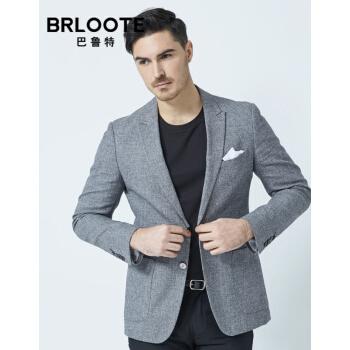 Brloote/バルトスーツ男性ファッションビジネスの花紗を少し詰めて、西男性の身を修めるスーツの上着2019春服の新品の花灰170/92 A