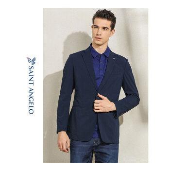 吉報の鳥の男性の春季のビジネスの少しの服装は西単のホックのスーツが引き分けしてカラーの薄いスーツの青年のオーバーの紺色の50を隠します。