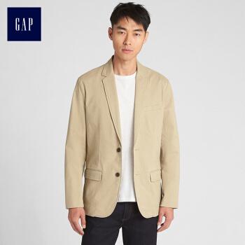 Gapフラッグシップショップメンズビジネス通勤スーツ356216メンズコート男性カーキ色175/92 A(S)