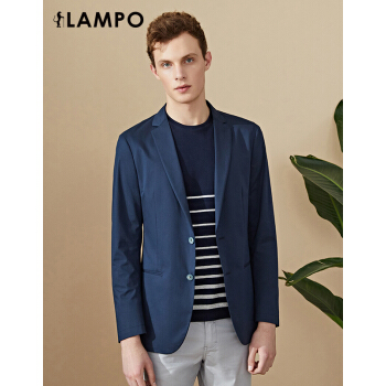 LAMPO/藍豹18春夏デパートの同じ新品の西正装ジャケットビジネスファッション少しスーツビジネス紺色スーツ男性紺色52