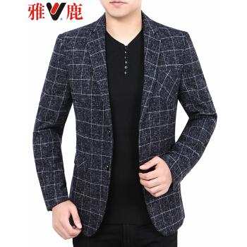 アイ鹿スーツ男性2019春新品男性ビジネス少しスーツ小さいスーツ韓国式修身中年の西ジャケットの父は黒灰色の6841 180/XLを詰めます。