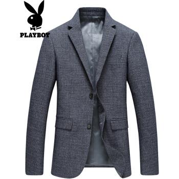 プレイボーイ(PLAYBOY)スーツ男性2018年秋モデルMENビジネス少しスーツの薄手のウール単西男性コート灰色190/3 XL