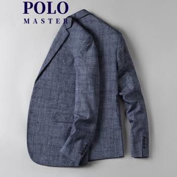MASTER POLO春季スーツ男性外套士修身ファッション単西上着かっこいい韓式ファッション薄いスーツ男性S 10 L