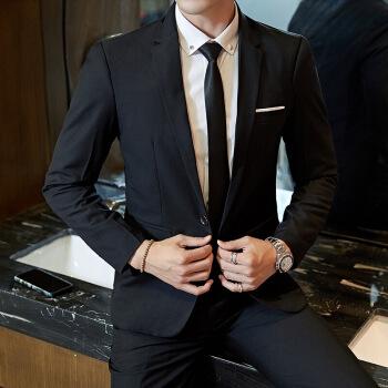 スツ男性2018新品スツ男性修身コート韓国式略装スツ男性用単西職業服新郎結婚ドレス黒スト+ズボンヌ+ベト+ベト+ベトはネ170/Lをプロにする。