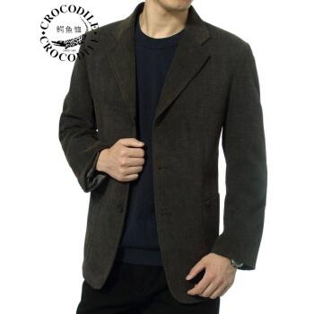 ワニのTシャツを少し詰めてスーツの男性2019新品のコーネルの中年のお父さんはスーツの男性のオーバーの上着の春秋は2粒を詰めて黄色の180/78を掛けます。