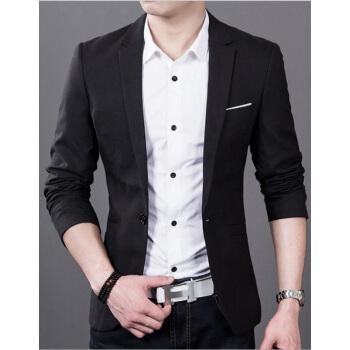 vanuucciスツー男性青年がキャリアスーツを着ている3点セト夏秋の薄手のスツー韓国式修身小スツー68黒XL/124-138斤