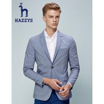 ハギスHAZYS夏の新作スーツ男性はビジネス夏のシンプルなスーツです。西ASUZJ 07 BJ 12ブルーBL 170/92 A 46