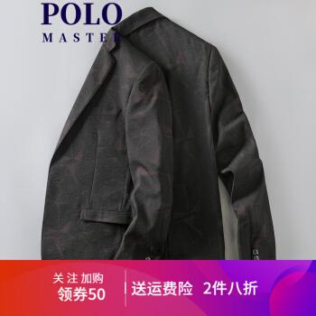 アメリカ・ポール・ハンガースーツ男性上着ビジネスマン服上着男性ファッションワンポイント小さいスーツ16462黒170/M