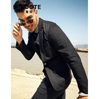 Brloote/バルトスーツスーツ男性修身薄タイプ青年ビジネス用スーツ2019春服黒170/92 A