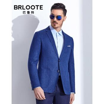Brloote/バルトスーツ男性ファッションビジネス略装西男人2粒バックル修身シングルスーツ2019春服新品ブルー165/88 A