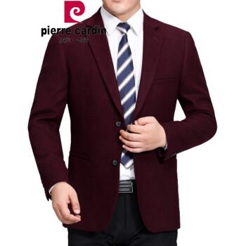 ピルカダンの高級ウールを少し詰めたスーツ男性の中年スーツ2019年の大型サイズのビジネススーツは無熱純色の職業服単品の小さいスーツです。本命年のワインレッド3609 180/96 A