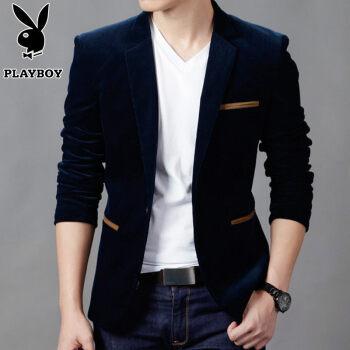 プレイボーイの新商品春秋冬ストリップの小さいスーツの男性のビジネスの略装の男性のスーツのオーバーは身を修めます。