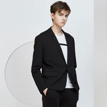 HIM漢崇メーズスーツコート2018秋冬新品一錠韓国式修身ビジネススーツ黒170/M