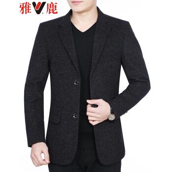 アイ鹿スーツ男性2019春新品の中年男性は小さいスーツの上着を少し詰めます。韓国式修身服の西の上着はカレー色が76807です。175/L