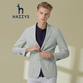 ハギスHAZYS 2019春夏新作ファッションストライプメンズ単西修身小ぶりスーツコートASUZJ 09 BJ 13ブルーボーイズ170/92 A 46