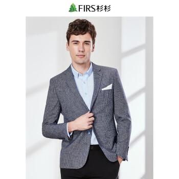 FIRSFIRSスーツ男性2019春新品ビジネスファッション混紡、西千鳥スーツ男性XDX 880104-1深灰46 Aを少しセットしました。