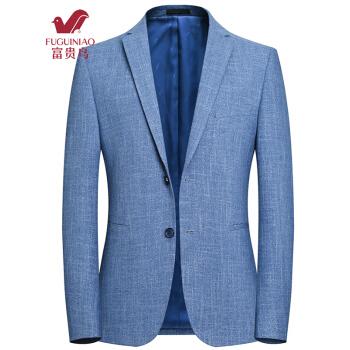 富貴鳥スーツ男性2019春新品男性ビジネススーツ韓国式修身中の青年スーツ男性用単西ジャケット男性1728ブルーM 170
