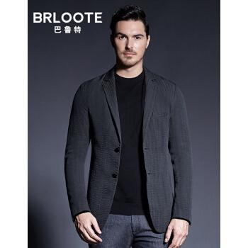 Brloote/バルトスーツ男性ビジネススーツは軽薄で身を修めます。西秋のスーツはグレーで170/92 Aです。
