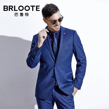 Brloote/バルト男性スーツに春秋季ビジネス修身ウールスーツのジャケットが紺175/100 B