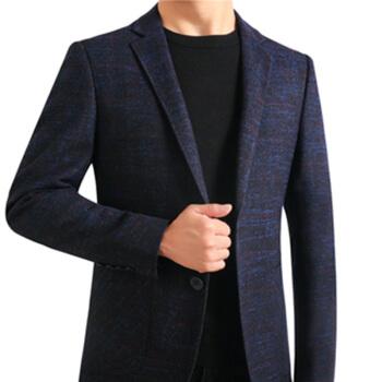 ワニのTシャツ(CROCODILE)スーツ2018秋新品ファッションビジネススーツ男性2018-1831ブルーL