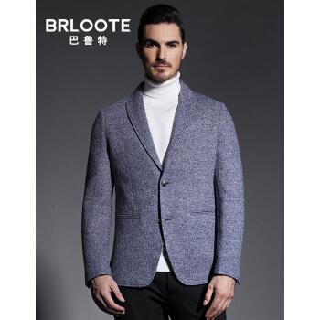 Brloote/バルトメンズウール少しスーツ男性修身単西ファッション小さいスーツ秋服西外套青185/104 A