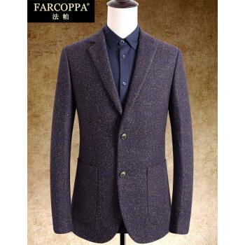 ファパメンズ修身スーツ韓国式毛です。スーツを少し詰めた男性2018年秋冬新品ジャケットの花紫185
