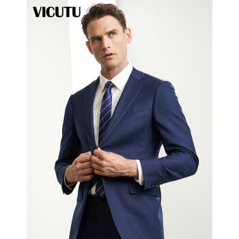 VICUTU男性スーツビジネススーツスーツウール職業スーツ男性VBS 1612353ブルー180/100 B