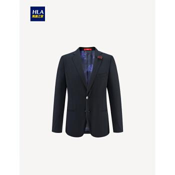 HLA海澜の家クラシックフラットカラースーツ2019春新品純色エレガントスーツ男性HTXJ 1006 A蔵青06/112 C
