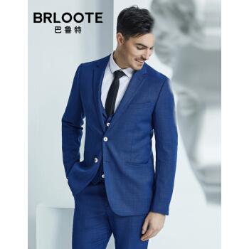 Brloote/バルトメンズスーツスーツ男性ビジネス紳士修身ウール一式スーツ2019春服新品ブルー175/96 A