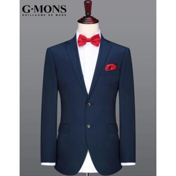 ジーヨンモン(G・MONS)ウール単品スーツ男性スーツジャケットウール正装ジャケット【シングル上着】ダークブルー【上着48サイズ175/92 A】