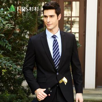 FIRS(FIRS)单西男 韓式修身青年时尚商务西装单西 FXWB6042S黑色 185A