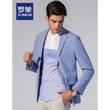 ロモン(ROMON)修身単西男性スーツ2019春メンズビジネススーツ薄手の私服コートファッション男性6 F 81001-83ブルーモデル175/48 A
