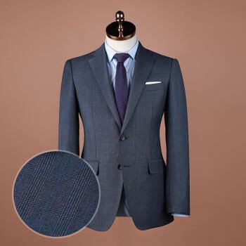 YOUSOKU【デザイナタイプ】スーツの男性のチェックファッションを少し詰めました。西青英倫復古修身1803228灰色の青のチェックL