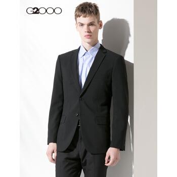 G 2000ユーススーツ通勤ビジネススーツスーツ夏の服はちょっと空気を通して汚れ防止紳士スーツ男性黒/99 47/170