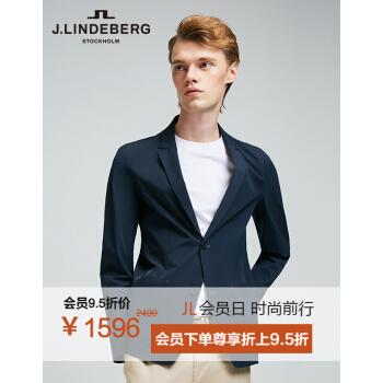 【19年新品】金林德伯格J.LIDEBERG男性の運動感は薄手のスーツのコート519108503 PAFダークブルー185/104 Aを少し詰めます(XL)