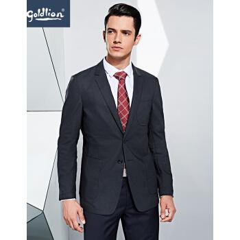 金利来メーズスーツビジネス簡単二粒シングルバックルファッションスーツ男性外套FQ宝藍-85 50 A