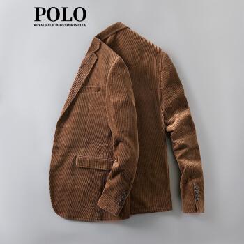 アメリカ王立のポロPOLOスーツの男性用薄手のコーデュロイを少し詰めました。スーツのカーキ色は48/Lです。