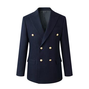 GIEVES CHARLES日本輸入KUROKIデニム限定版海軍ブレザースーツ紺色48