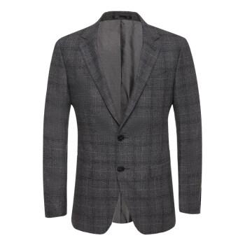 吉報の鳥の冬季の新品の男性のビジネスの少しの詰めの単西平地の襟の縞模様の純粋なウールを修理します西のオーバーの灰色の48 A