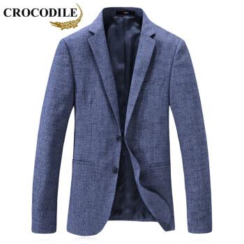 鰐魚のシャツ(CROCODILE)スーツ男性2019春新品ビジネス少し純色の小さいスーツ男性短いスタイル修身シングルスーツ男性D 2169806ライトブルー195/4 XL