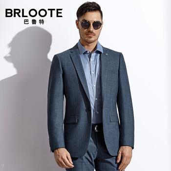 Brloote/バルトスーツ男性春秋季ビジネススーツ男性修身スーツにデニムブルー175/96 A