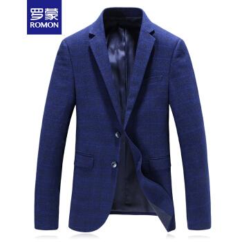 ロモンスーツ男性2019春新作メンズビジネススーツ単西修身ジャケットブルー3 XL