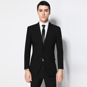 アン其羅揚(ANGELOYANG)男性スーツの上着男性用韓国式ビジネススーツのプロスーツ修身スーツの上着DKHDX-3黒175 B