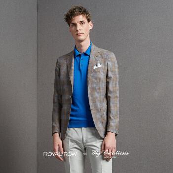 Royal Row for By Creations Talliaファブリックの綴り方が簡単です。スーツの男性用コーヒーのチェック柄44