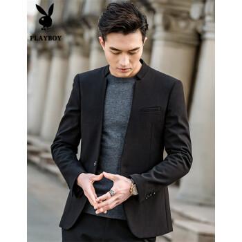 プレイボーイ(PLAYBOY)の中山装男性外套2019春新品中国風少しスーツを身に着けて男性スーツを修繕します。