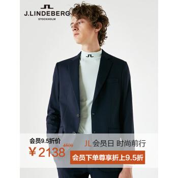 【早春好品】金林德伯格J.LIDEBERG男性の春季正装カッティング修身にはウールのスーツ51834 K 507 PAFネイビー180/100 A(50 R)が含まれています。