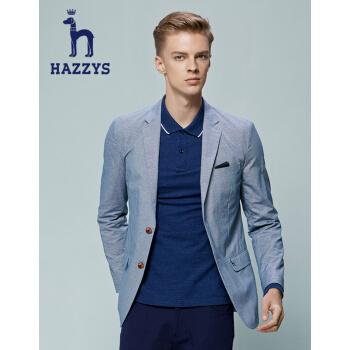 ハギスHAZYS秋の新作ファッション少しスーツ男性修身シングルジャケットASUZJ 07 BJ 10深蔵ブルー170/92 A 46