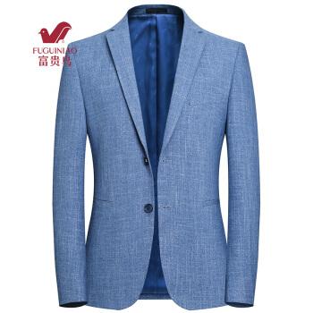 富貴鳥スーツ男性2018秋新品韓国式スーツ男性ジャケット男性単西男性ビジネス略内装メーズ服男性浅青L