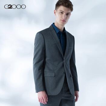 G 2000 MENビジネススーツ男性用シングルバックルスーツ男性用ジャケット00010022ライトグレー/94/170